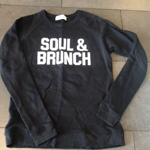 "SoulCycle ""soul and brunch"" crewneck"